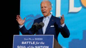 El candidato demócrata, Joe Biden