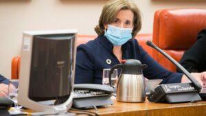 La secretaria de Estado de Economía y Apoyo a la Empresa, Ana de la Cueva, en el Congreso