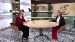 Alba Vergés, y la periodista Gemma Nierga