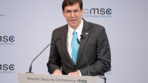 El secretario de Defensa estadounidense, Mark Esper