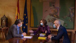 María Jesús Montero, Nacho Álvarez y Tomás José Guitarte