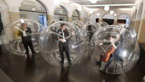 Músicos de la Orquesta Filarmónica de Stuttgart