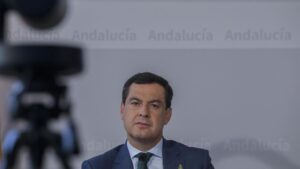 El presidente de la Junta de Andalucía, Juanma Moreno