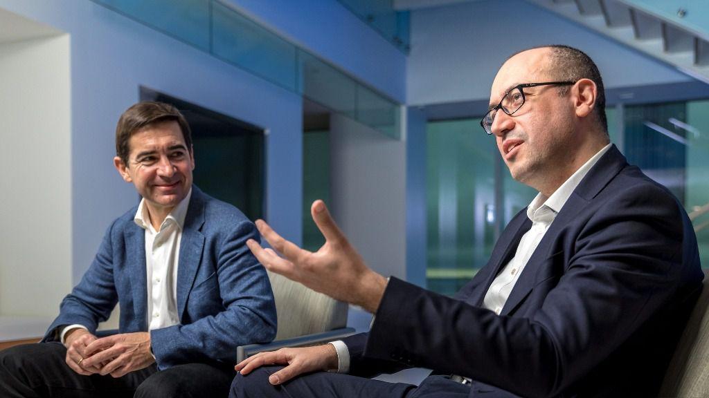 Carlos Torres Vila, CEO de BBVA y Onur-Genc, Country Manager USA