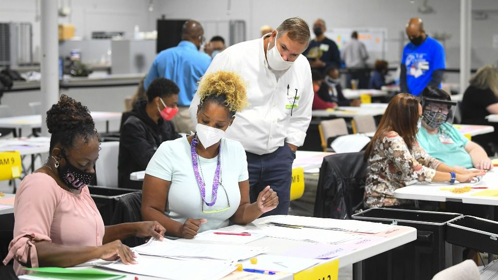Recuento de votos en el estado de Georgia, EEUU