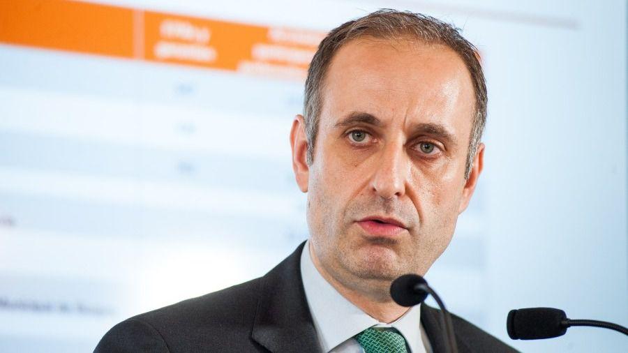 Jaime Ponce, presidente del FROB, durante su intervención en el Curso de Economía organizado por la APIE en la UIMP