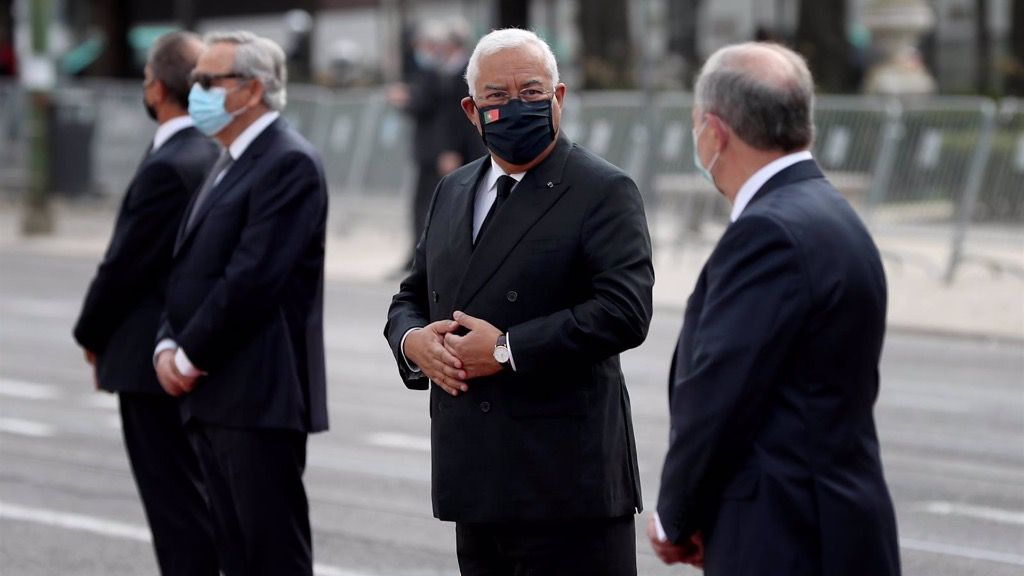 El primer ministro de Portugal, Antonio Costa, en un homenaje a las víctimas de la pandemia