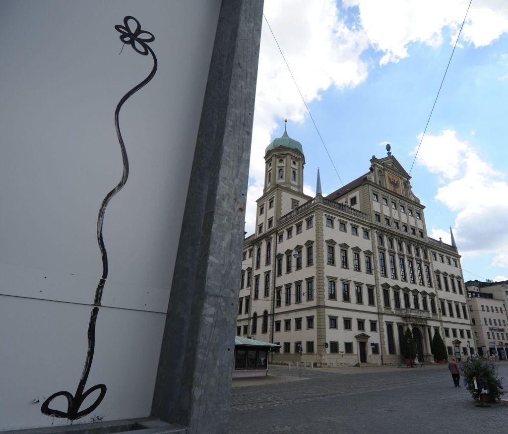 La famosa flor del grafitero de Augsburgo