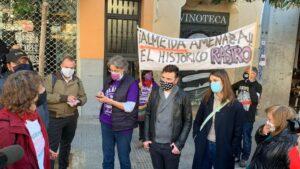 Representantes de Más Madrid en la reapertura del Rastro