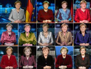 Las 15 imágenes fueron tomadas después de sus discursos de Año Nuevo, a partir de 2005