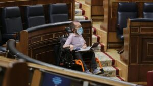 El portavoz de Unidas Podemos en el Congreso, Pablo Echenique