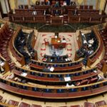 Hemiciclo del Congreso en el debate de la quinta prórroga del estado de alarma