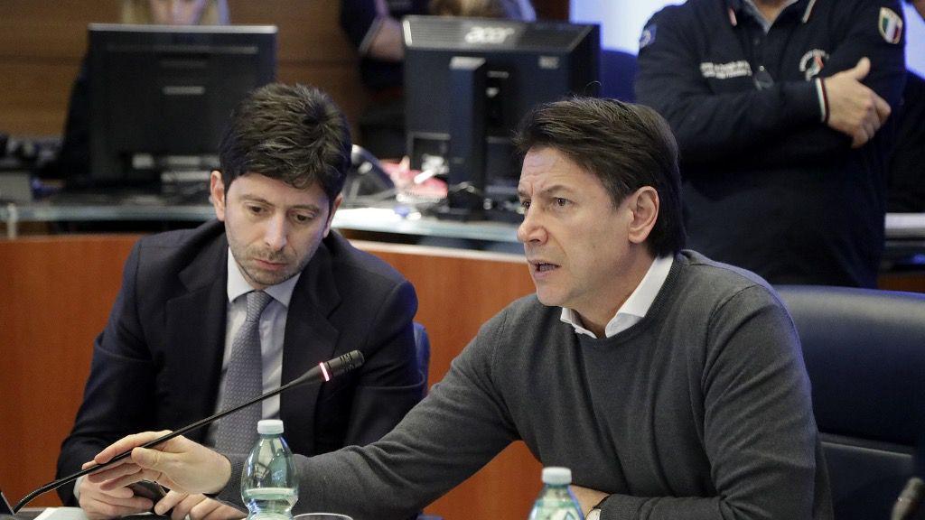 Giuseppe Conte y Roberto Speranza