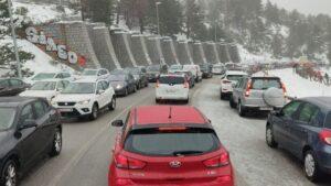 Colapsada la carretera de Navacerrada