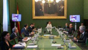 Reunión de la Mesa del Congreso con intervenciones telemáticas y bajo la presidencia de Meritxell Batet