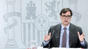El ministro de Sanidad, Salvador Illa, comparece en rueda de prensa posterior al Consejo de Ministros celebrado en Moncloa, Madrid (España)