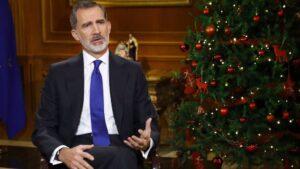 El Rey Felipe VI da su discurso de Nochebuena, en Madrid (España) a 24 de diciembre de 2020