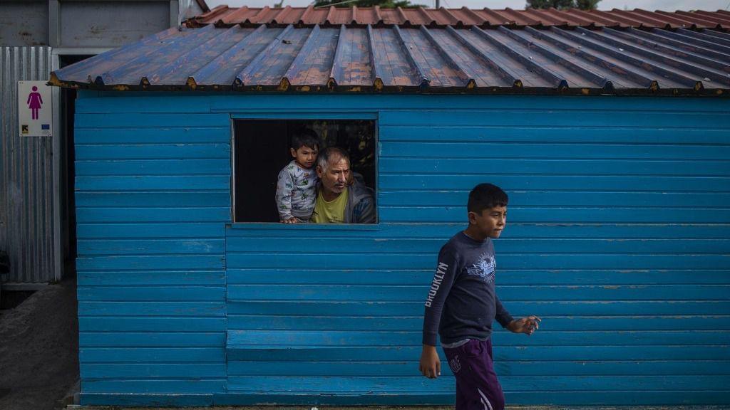 Una de las viviendas habilitadas para migrantes y solicitantes de asilo en Lesbos, Grecia