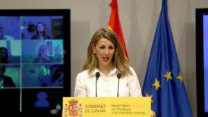La ministra de Trabajo y Economía Socia, Yolanda Díaz