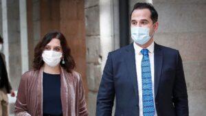 Isabel Díaz Ayuso e Ignacio Aguado