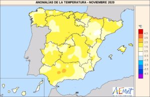 Temperaturas de noviembre 2020