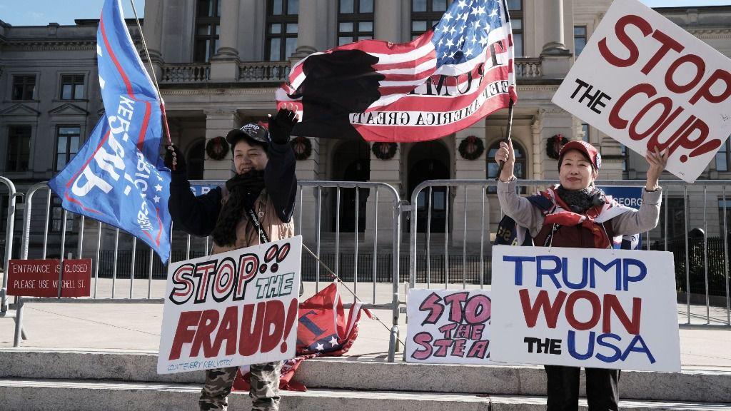 Manifestación de simpatizantes de Donald Trump en Atlanta