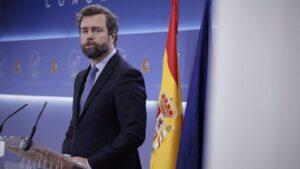 El portavoz parlamentario de Vox, Iván Espinosa de los Monteros,
