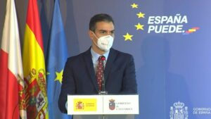 El presidente del Gobierno, Pedro Sánchez, presenta el el Plan de Recuperación, Transformación y Resiliencia de la Economía Española, en Comillas (Cantabria)