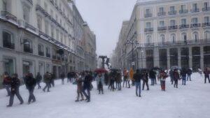 La borrasca Filomena en Madrid