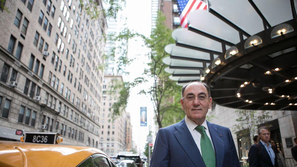 El presidente de Iberdrola, Ignacio Galán, en Nueva York
