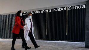 Isabel Díaz Ayuso y hospital Zendal