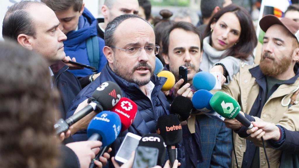 El presidente del PP en Cataluña, Alejandro Fernández