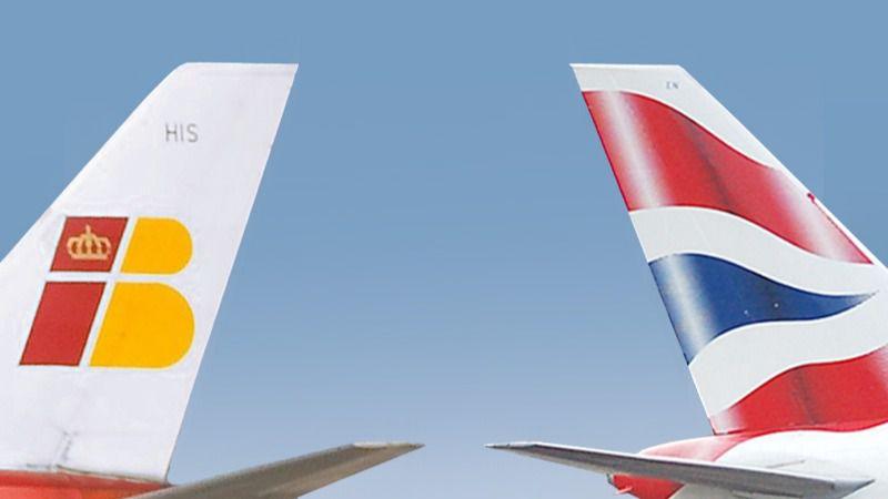 Avión de Iberia y de British Airways