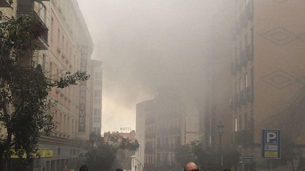 Explosión en la calle Toledo de Madrid.