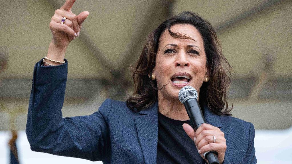 La senadora demócrata Kamala Harris en un acto en EEUU