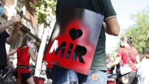 Manifestación de médicos residentes en Madrid el pasado mes de julio.