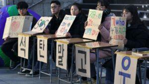 Protestas contra el cambio climático en Corea del Sur