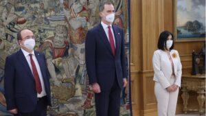Felipe VI, Carolina Darias y Miquel Iceta