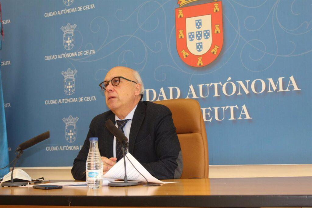 El consejero de Sanidad y Gobernación del Gobierno de Ceuta, Javier Guerrero (PP), en su comparecencia