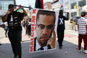 Protesta en el aniversario del asesinato de Malcolm X
