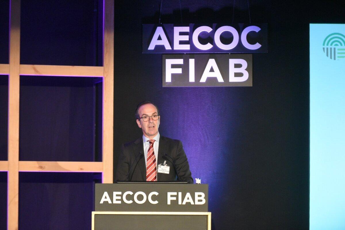 El director general de FIAB, Mauricio García de Quevedo, durante las jornadas de AECOC y Fiab. - AECOC - Archivo