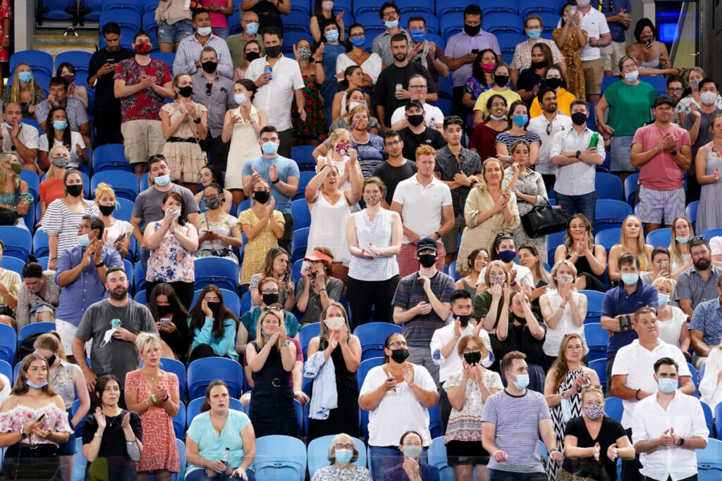 Espectadores presenciando un partido del Abierto de Australia 2021 - AAPIMAGE / DPA