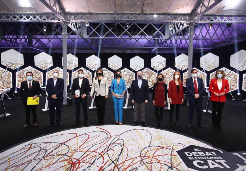 Los participantes en el debate de candidatos a las elecciones catalanas del 14F, emitido por La Sexta el 11 de febrero - JOSÉ IRÚN - LA SEXTA