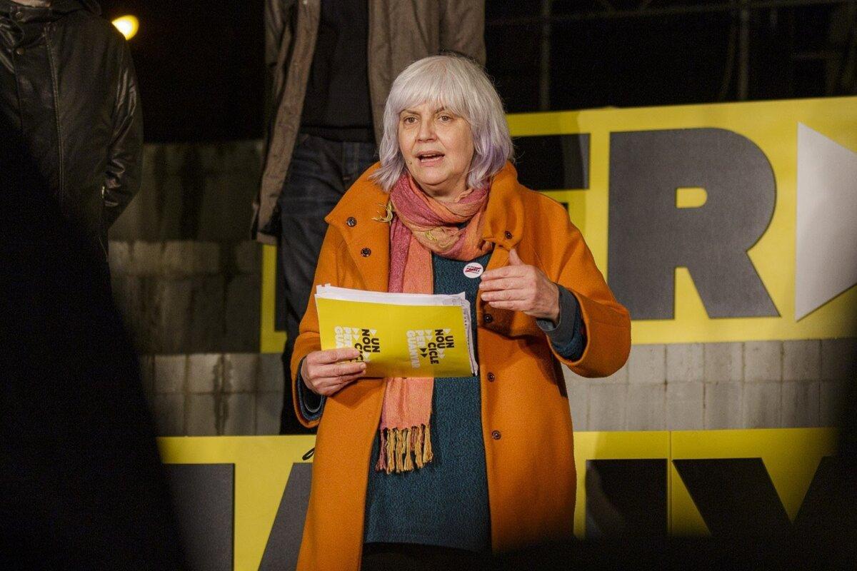 La candidata de la CUP a la Presidencia de la Generalitat, Dolors Sabater