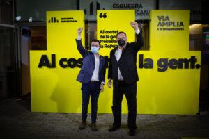 El candidato de ERC a la presidencia de la Generalidad de Cataluña y vicepresidente en funciones, Pere Aragonés