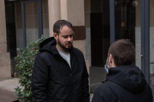 Pablo Hasel en el rectorado de la Universidad de Lleida