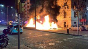 Protesta en Lleida por el encarcelamiento del rapero Pablo Hasel