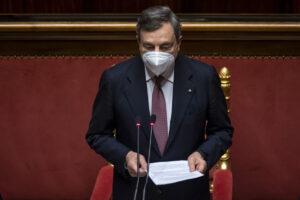Mario Draghi y su gabinete obtienen el amplio apoyo del Senado de Italia