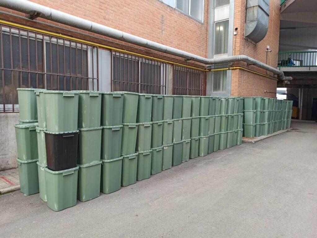 Residuos apilados en el Hospital 12 de Octubre