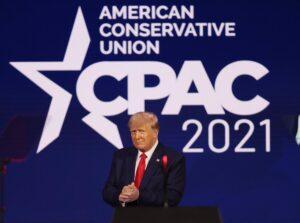 El expresidente estadounidense Donald Trump en la Conferencia de Acción Política Conservadora (CPAC) - JOE RAEDLE